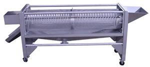 回転式ふるい機の内部構造